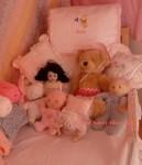 Doll, Teddy & friends at my AB Nursery