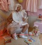 Adult Baby's dangling legs- London UK