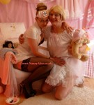 Nanny Alice and her 'little one' Joanna, AB nursery,  London UK