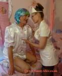 Nanny Alice gently reprimanding Adult Baby - London UK