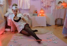 Nanny Alice gets rid of her heels and leans back - AB/DL Nursery London UK