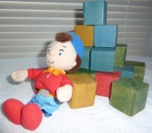 Noddy and wooden blocks for little boys.