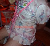 Note dummy clipped to AB Lucinda's plastic dress